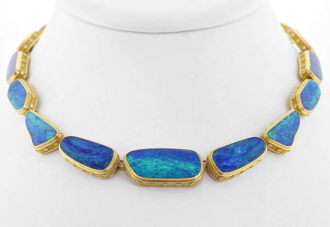 AGTA 2014 Business/Day Wear - 1st Place - Jonathan Lee Rutledge opal necklace
