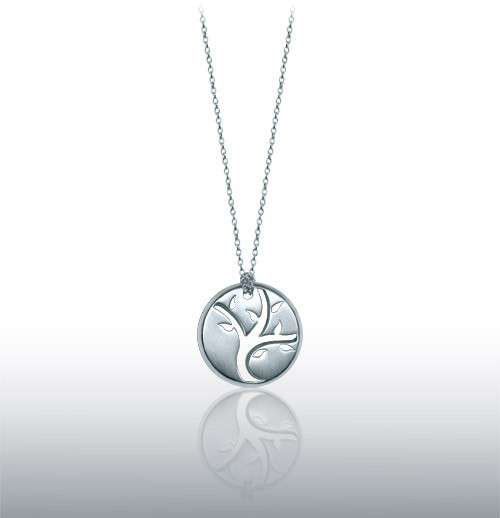 Alex Woo Open Tree of Life Pendant in Sterling Silver