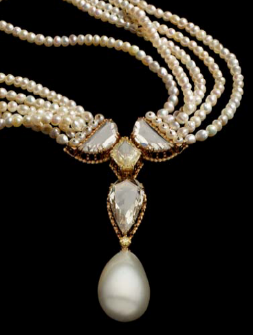 Alexandre Reza natural pearl necklace