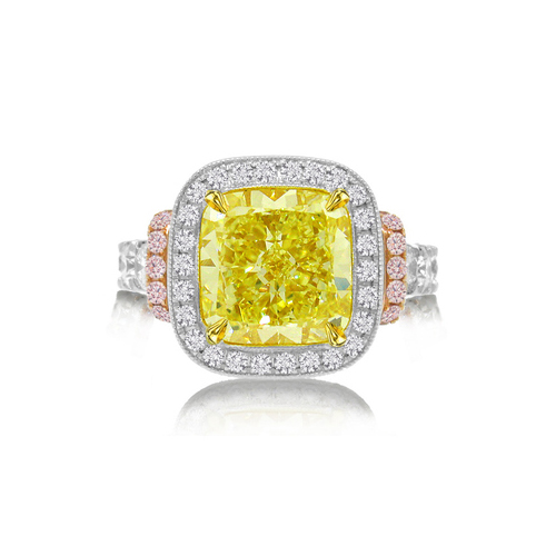 Fancy yellow diamond ring from Allurez at Sears Marketplace