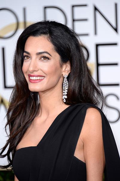 2015 Golden Globes Amal Alamuddin Clooney