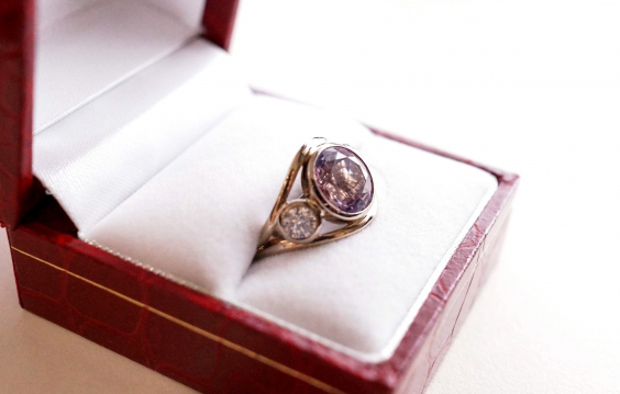 Amethyst and diamond ring - Image by sonyachancs