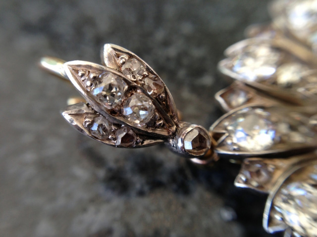 Antique diamond pendant / brooch