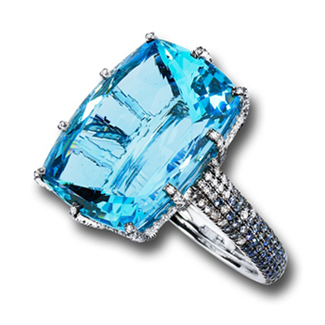 25-carat aquamarine ring by Martin Katz