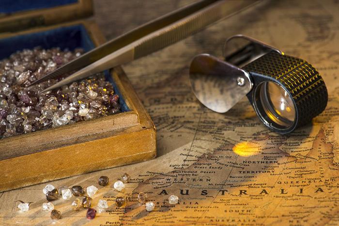 Rough diamonds from Rio Tinto Argyle Mine donated to the Smithsonian Institution