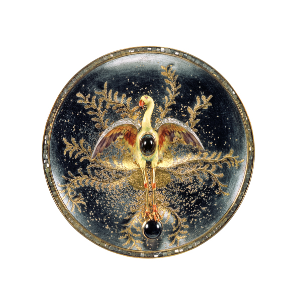 Atelier Zobel • Flamingo brooch/pendant