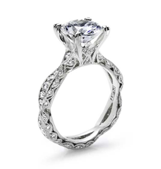 Tacori Diamond Engagement ring from Since1910.com