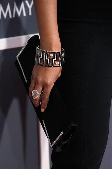 Beyonce in Lorraine Schwartz at the 2013 Grammy Awards