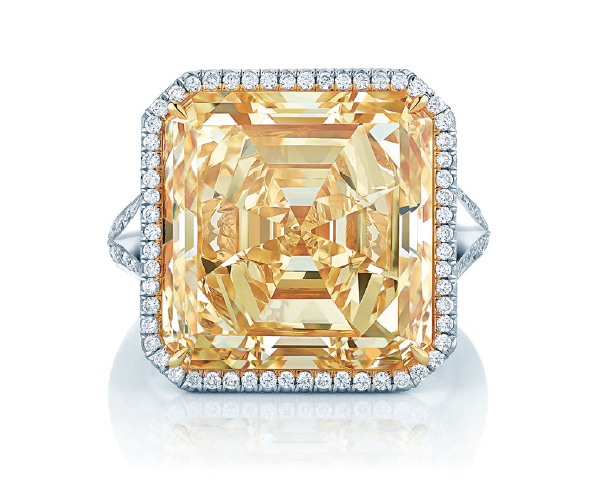 16-carat yellow diamond ring from Birks