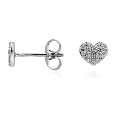 Mini diamond heart earrings from Blue Nile