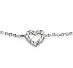 Mini heart diamond bracelet from Blue Nile
