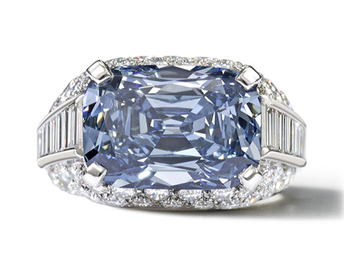 Rare Blue Diamond Ring by Bulgari to be Auctioned at Bonhams in April 2013