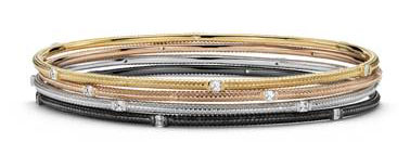 Brick Design Diamond Bangle Bracelets in 14k White, Yellow, and Rose Gold (1 1/5 ct. tw.) at Blue Nile