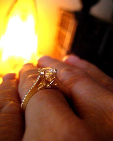 Bridget Durnell Yellow Gold Engagement Ring