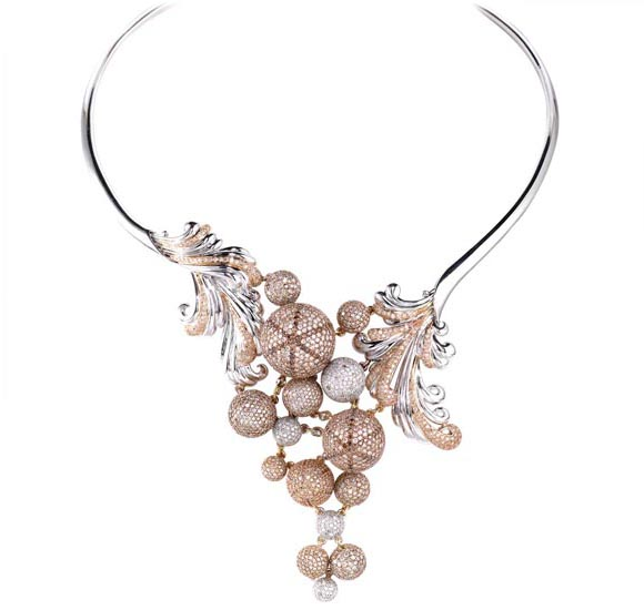 Bulles de Champagne Collier Rio Tinto Argyle Diamond Jewelry Collection