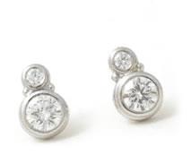 Caleb Meyer Double Diamond Stud Earrings