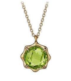Carelle peridot necklace at Tivol