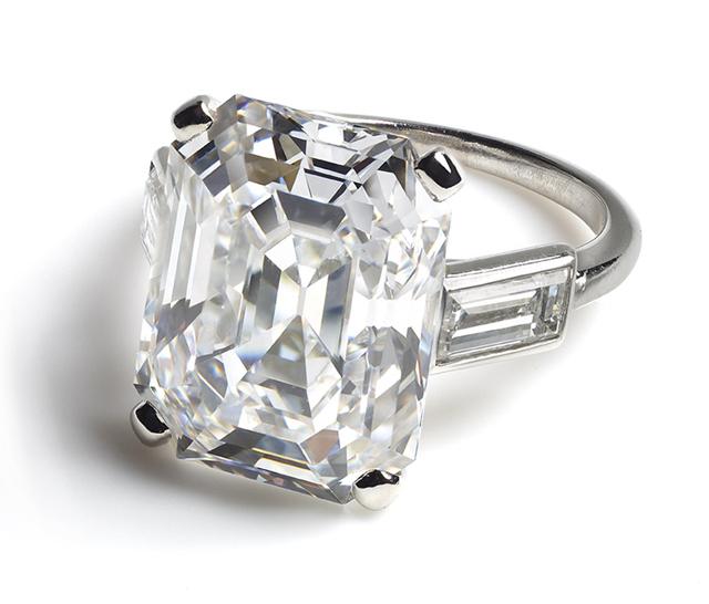 Engagement ring worn by HSH Princess Grace of Monaco, Cartier Paris