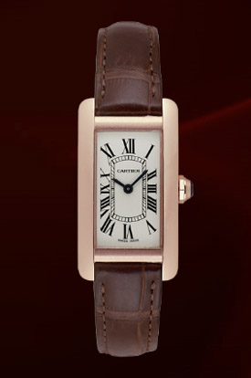 Cartier Tank Americaine Rose Gold Watch