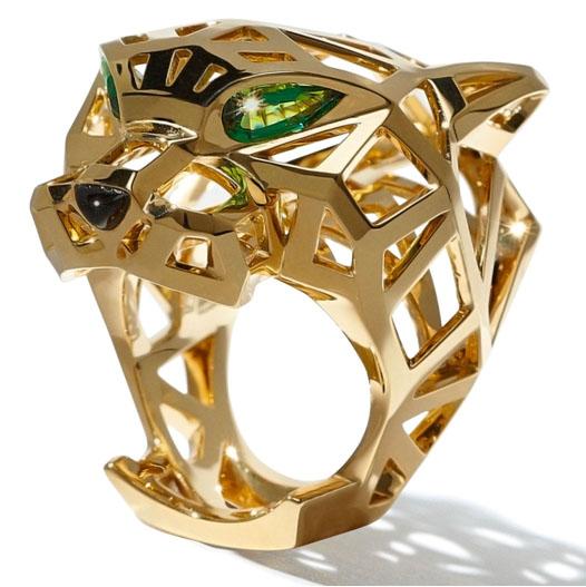 jaguar yellow cartier pin luxury tsavorite ring panth in re gold onyx