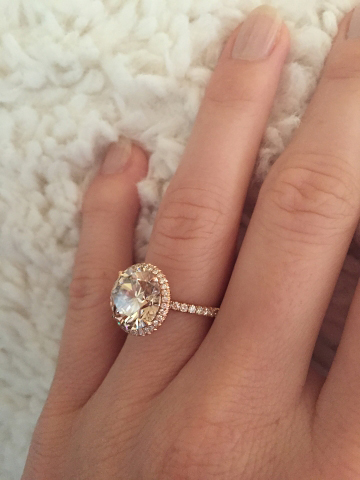 Jewel Of The Week Stunning Champagne Diamond And Rose