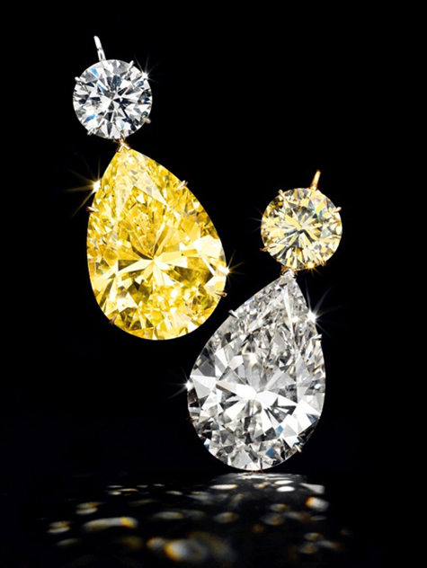 Diamond Ear Pendants of 52.78 and 50.31 carats, Christie's New York
