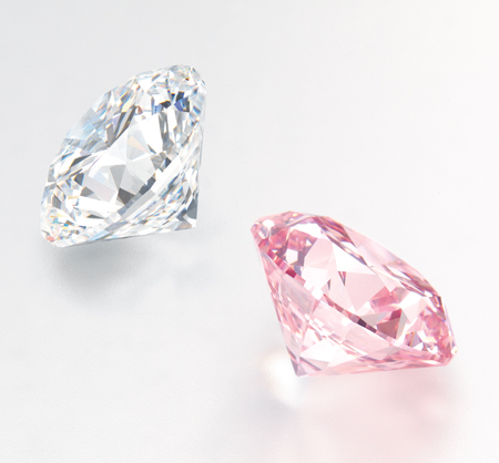 11.85ct D VVS1 round brilliant-cut diamond and 12.04 Fancy Intense Pink (Type IIa) round brilliant-cut diamond to be auctioned at Christie's Hong Kong