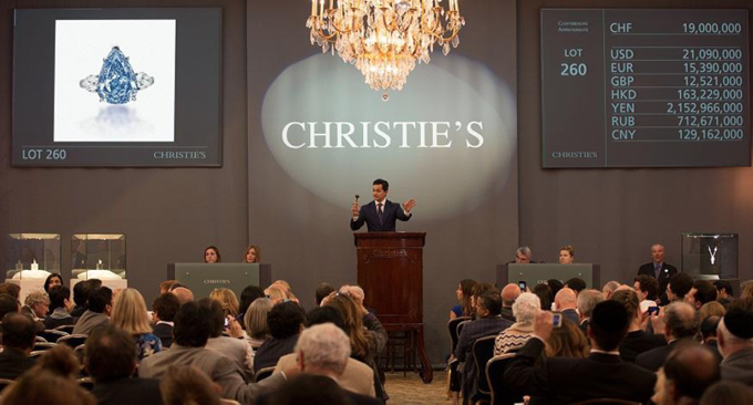 Christie's Auction of the Winston Blue Diamond