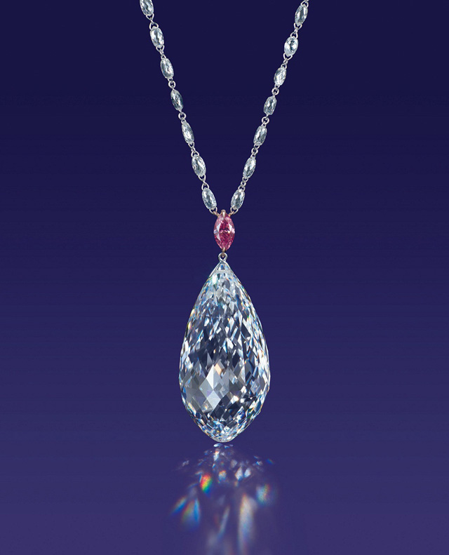 75.36-carat briolette-cut diamond necklace, Christie's Hong Kong