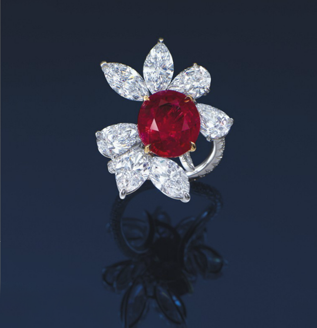 Ruby and diamond ring by James W. Currens