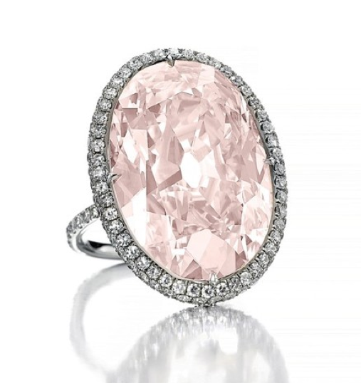 21.30-carat fancy light pink Golconda diamond • Image: Christie's