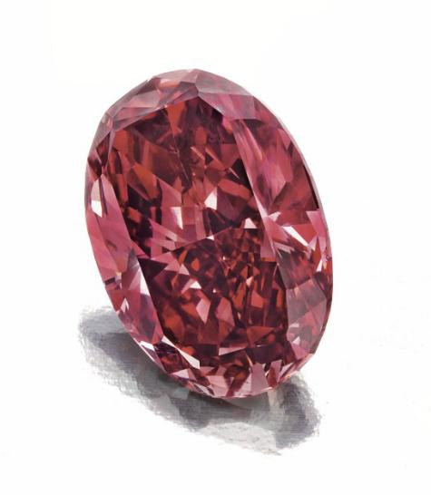 1.42-carat fancy red diamond • Image: Christie's