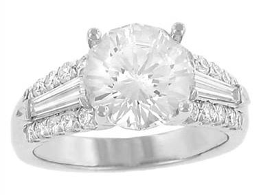 Christopher Designs G47-RD250 Christopher Designs Pave Diamond Engagement Ring at Solomon Brothers