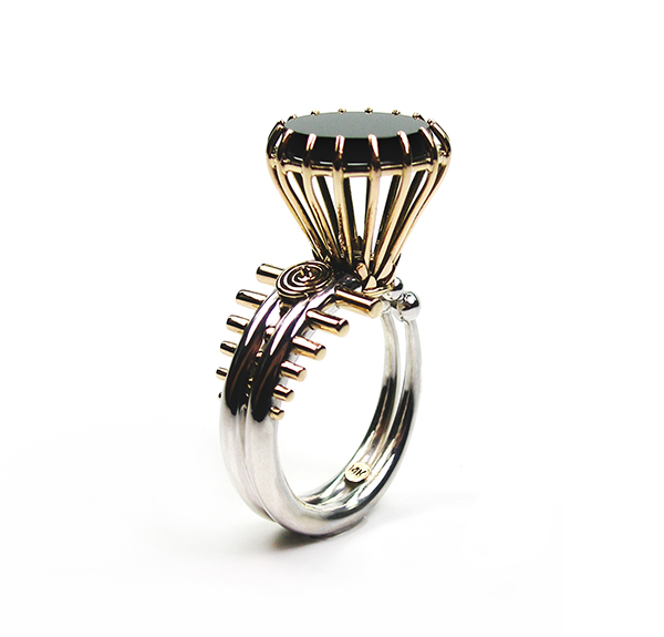 Ring by Claudio Pino worn by Stanley Tucci in The Hunger Games: Catching Fire