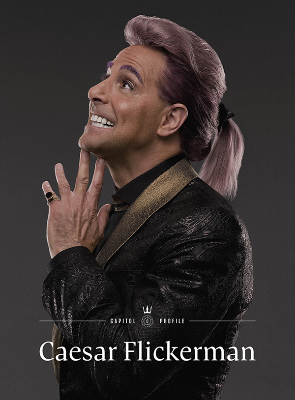 Stanley Tucci wears a ring designed by Claudio Pino in The Hunger Games: Catching Fire