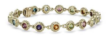 Multi-Gemstone Confetti Bracelet in 14k Yellow Gold (3.5mm) by Blue Nile