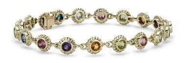 Multi-Gemstone Confetti Bracelet in 14k Yellow Gold (3.5mm) by Blue Nile