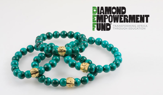 Diamond Empowerment Fund's iconic green bracelet