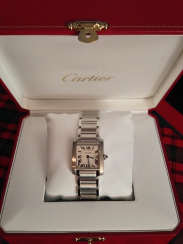 diamondseeker's Cartier Tank watch
