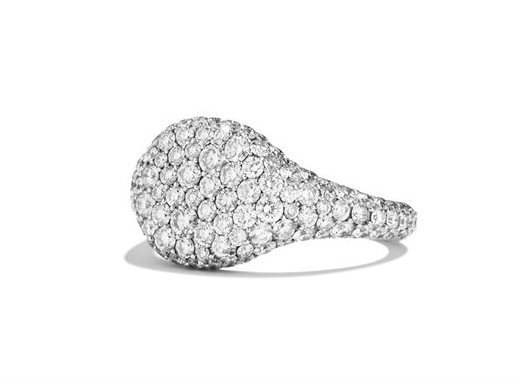 David Yurman petite pavé-diamond pinky ring