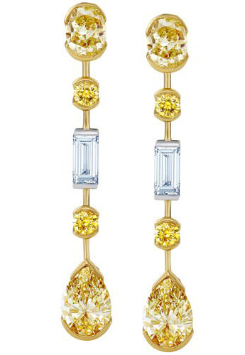 De Beers Swan Lake Collection Diamond Earrings