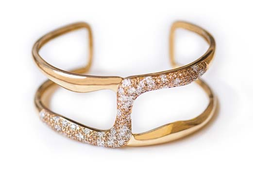 Diamond Cuff from Rio Tinto Sustainable Jewelry Collection, Nature's Beauty