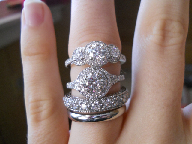 Diamond engagement rings and wedding bands shared by Laila619