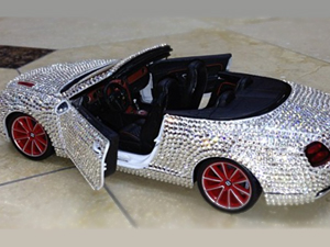 The Game's son's diamond-encrusted toy Bentley