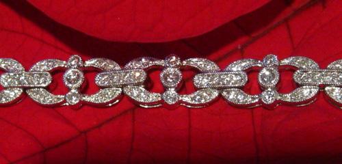 Deco Style Diamond Bracelet, Detail