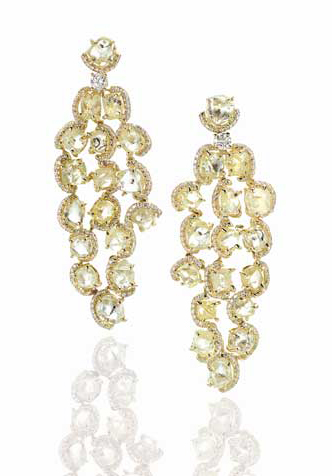 Diamonds in the Rough earrings worn by Shawna Thompson at the 2012 Grammy Awards