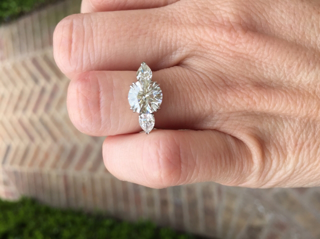 Jewel Of The Week Stunning Reset 3 Stone Diamond Ring Pricescope