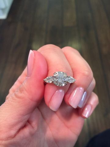 3-stone diamond ring - image by Miranda