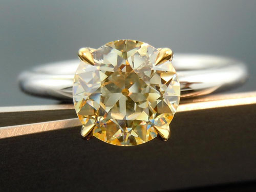 'Uber' Flower Solitaire engagement ring by Diamonds by Lauren