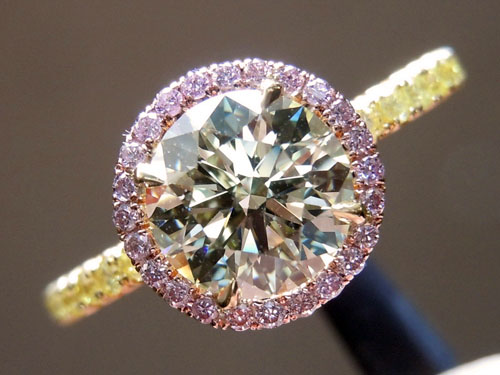 halo rings ring pin round engagement this pink moissanite like but i